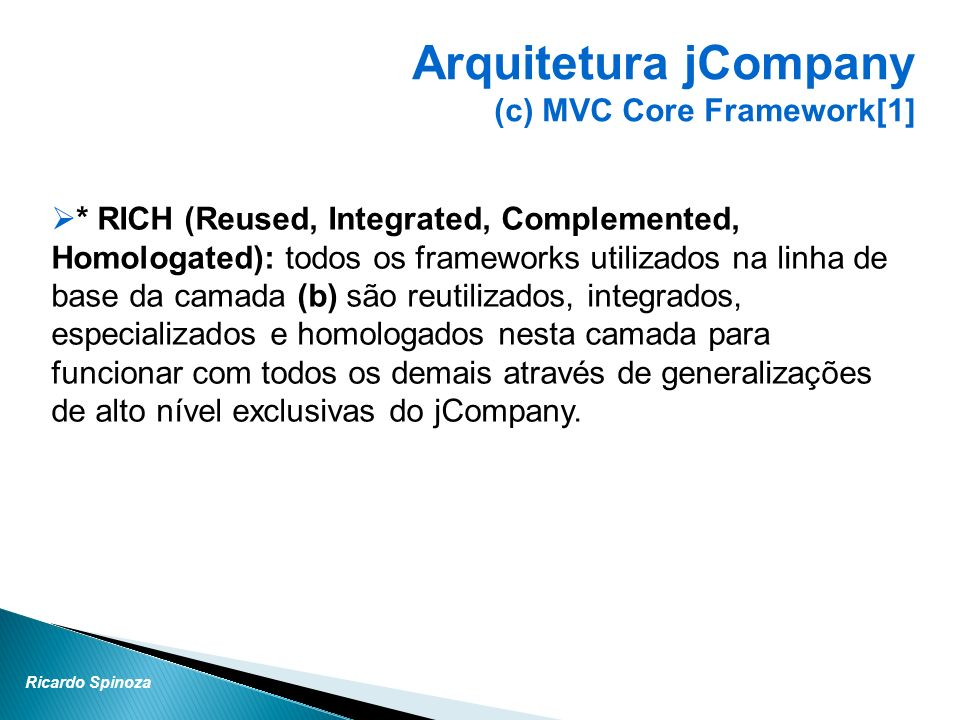 Arquitetura jCompany (c) MVC Core Framework[1]